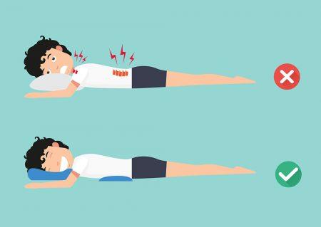 posição para dormir para quem tem dor nas costas