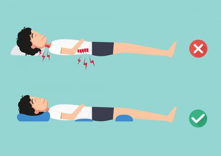 qual é a melhor posição para dormir para que tem dor nas costas