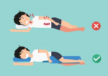 qual é a melhor posição para dormir para que tem dor nas costa